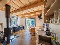 Obývací pokoj - pronájem chaty Kouty nad Desnou