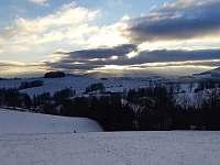 Výhled nad chalupou - chata k pronajmutí Šléglov