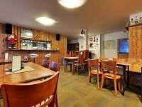 Společenská místnost (v zimě slouží jako bar s posezením pro lyžaře)