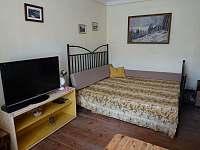 Obývací pokoj se spaním - chalupa ubytování Bušín