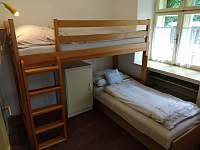 Pokojík se vyvýšenou postelí a válendou - Bušín