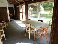 Prosklená terasa - pronájem chalupy Bušín