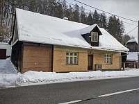 V zimě - pronájem chalupy Bušín
