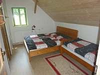Chalupa Baletka - ložnice 3 postele + přistýlka