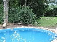 bazén - chata k pronajmutí Zlatý Potok