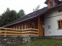 terasa - pronájem chalupy Šléglov