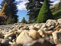 Výhled do části zahrady - chalupa k pronájmu Bělá pod Pradědem - Domašov