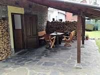 Venkovní posezení - pronájem chalupy Vrbno pod Pradědem - Mnichov