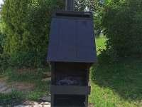 venkovní gril - chalupa ubytování Hrabišín