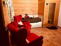 Relaxační pokoj (sauna, přistýlka) - přízemí - chalupa k pronájmu Velké Losiny