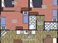 půdorys apartmánu č. 3 - Janov
