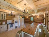 Kuchyně s kachlovými kamny