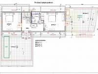rozmístění nábytku v interieru - podkroví