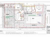 rozmístění nábytku v interieru - přízemí