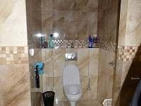 wc společně s koupelnou