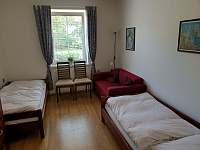 2 lůžkový pokoj v přízemí - chalupa ubytování Lipová-lázně