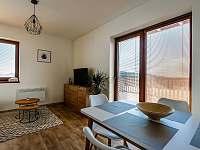 Jídelna s obývákem - apartmán ubytování Václavov u Bruntálu