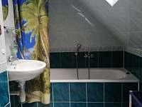 Koupelna s vanou a WC - chalupa k pronájmu Nová Červená Voda