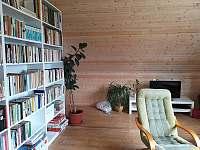 obývací pokoj s televizí - rekreační dům k pronajmutí Lipová-lázně