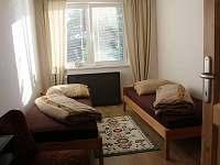 ložnice se dvěma lůžkama - rekreační dům k pronájmu Vrbno pod Pradědem