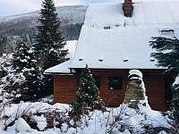 Amálka v zimě - chata ubytování Ludvíkov pod Pradědem