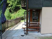 Před chatou - ubytování Dolní Bušínov