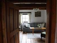 Obývací pokoj - chalupa k pronájmu Vrbno pod Pradědem - Železná