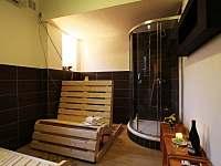 zázemí sauny - chata k pronájmu Hraběšice