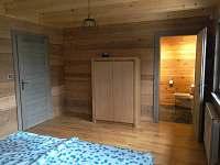 koupelna,WC k 1.ložnici - roubenka k pronajmutí Ostružná