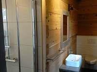 sprcha,WC k 2.ložnici - pronájem roubenky Ostružná