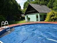 nový bazén - chalupa k pronájmu Hraběšice - Krásné