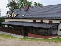 zastřešená terasa - chalupa ubytování Nové Vilémovice