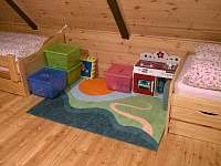 Na vyžádání k dispozici dětský koutek (lego, vláčky, kuchyňka, desk. hry, knihy) - Josefův Důl