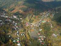 letecký pohled na obec - Josefův Důl