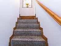 schody vedoucí k pokojům Chaty Retro - Josefův Důl