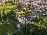Dominanta Smržovský viadukt-nejkrásnější v ČR