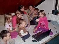 Část ložnice s dětmi