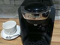 kapslový kávovar Bosch Tassimo - apartmán k pronajmutí Lučany nad Nisou