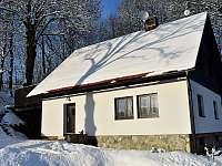 Chalupa 4 kafky v zimě - ubytování Hodkovice nad Mohelkou- Záskalí