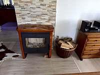 Obývací pokoj - pronájem chalupy Hodkovice nad Mohelkou- Záskalí