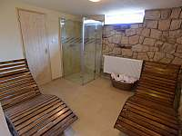 Relaxační místnost - pronájem chalupy Hodkovice nad Mohelkou- Záskalí