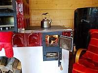 Kdo má rád, zatopí si v kachlových kamnech; dá se péct, vařit… - chalupa ubytování Kořenov - Polubný