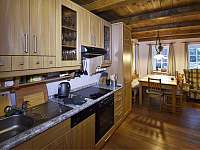 Kuchyně - pronájem chalupy Albrechtice v Jizerských horách