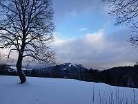 Výhled od chaty na Tanvaldský Špičák - k pronajmutí Smržovka