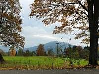 Výhled od chaty na Tanvaldský Špičák - k pronájmu Smržovka