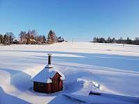 Zasněžený domek s grilem - ubytování Kořenov - Polubný