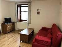 Obývací pokoj s rozkládací pohovkou - apartmán k pronajmutí Zásada - Zbytky