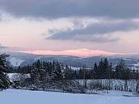 Zimní panorama Krkonoš - apartmán ubytování Zásada - Zbytky