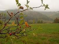 podzim, louky Kryštofova údolí - chalupa k pronajmutí