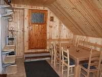 společenská místnost - chata k pronajmutí Kořenov